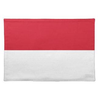 Flag of Monaco - Drapeau de Monaco Placemat