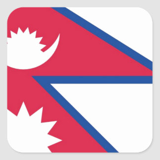 Flag of Nepal - नेपालको झण्डा Square Sticker