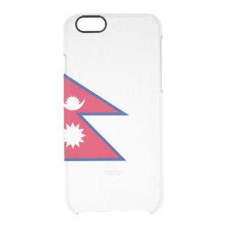 Flag of Nepal Clear iPhone Case
