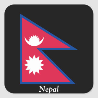 Flag of Nepal Square Sticker