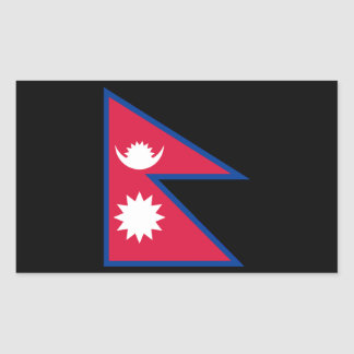 Flag of Nepal Rectangular Sticker
