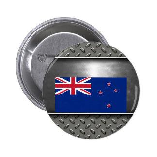 Flag of New Zealand 6 Cm Round Badge