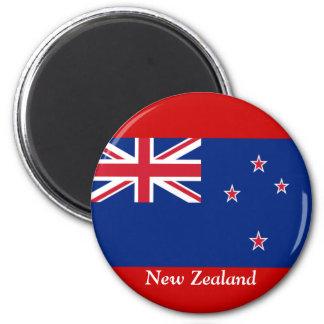 Flag of New Zealand 6 Cm Round Magnet