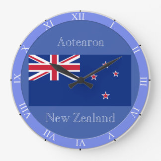 Flag of New Zealand Large Clock