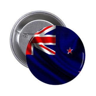 Flag of New Zealand, New Zealand Flag Pinback Buttons