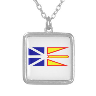 Flag of Newfoundland and Labrador, Canada. Silver Plated Necklace