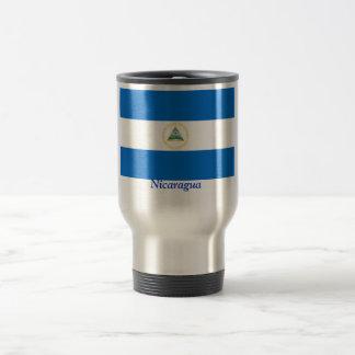 Flag of Nicaragua Stainless Steel Travel Mug