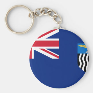 Flag of Northern Rhodesia Basic Round Button Key Ring