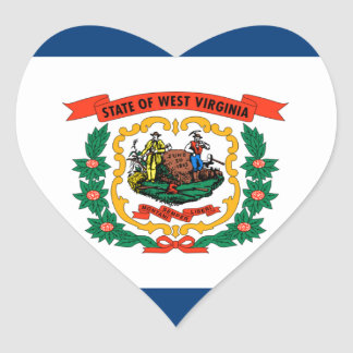 Flag of Occidental Virginia Heart Sticker