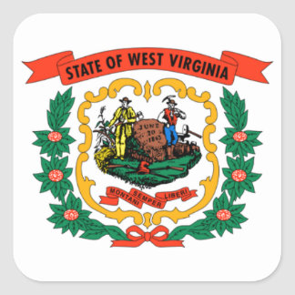 Flag of Occidental Virginia Square Stickers