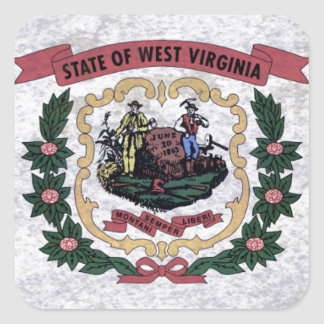 Flag of Occidental Virginia Square Sticker