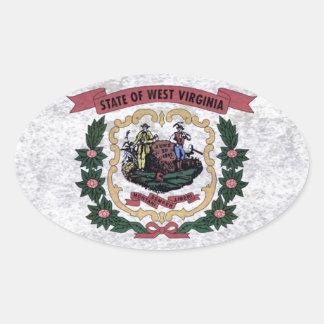 Flag of Occidental Virginia Oval Sticker