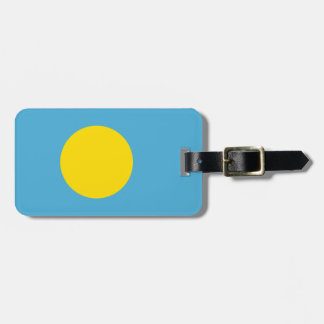 Flag of Palau Luggage Tag w/ leather strap
