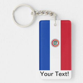 Flag of Paraguay Key Ring