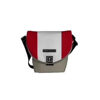 Flag of Peru Courier Bag