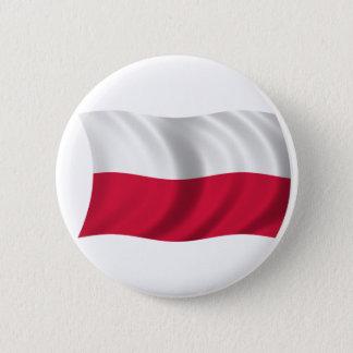 Flag of Poland 6 Cm Round Badge