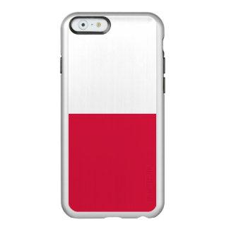 Flag of Poland Silver iPhone Case