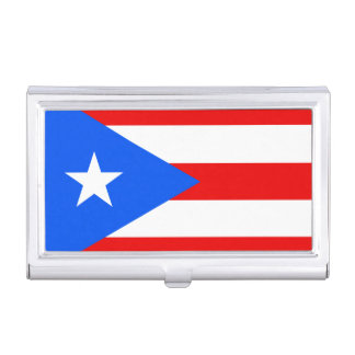 Flag of Puerto Rico Business Card Holder