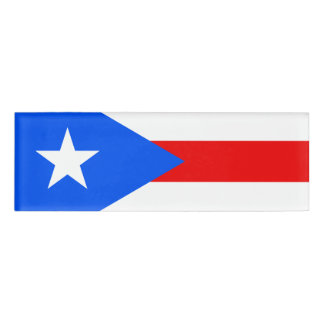 Flag of Puerto Rico Name Tag
