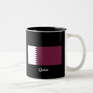 Flag of Qatar Two-Tone Coffee Mug