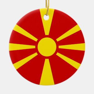 Flag of Republic of Macedonia Christmas Ornament