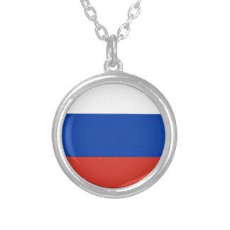 Flag of Russia - Флаг России - Триколор Trikolor Round Pendant Necklace
