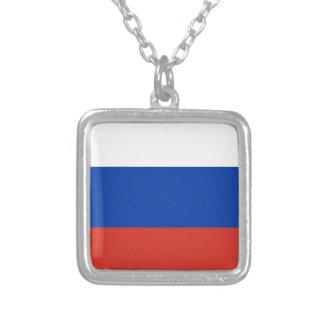 Flag of Russia - Флаг России - Триколор Trikolor Square Pendant Necklace