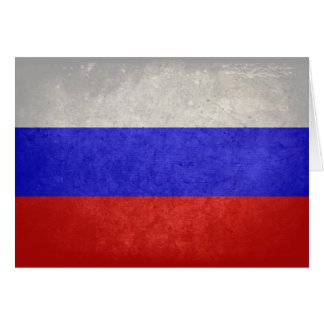 Flag of Russia Card