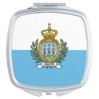Flag of San Marino Square Compact Mirror
