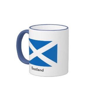 Flag of Scotland Ringer Coffee Mug