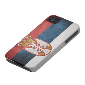 Flag of Serbia Case-Mate iPhone 4 Cases