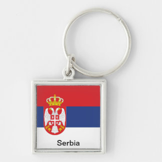Flag of Serbia Keychain