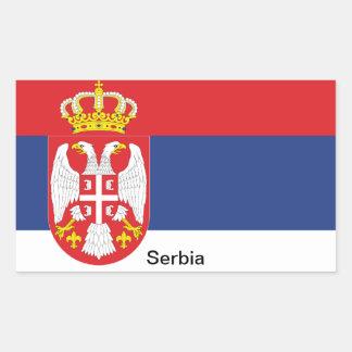 Flag of Serbia Rectangular Sticker