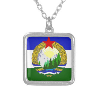 Flag of Socialist Cascadia Silver Plated Necklace