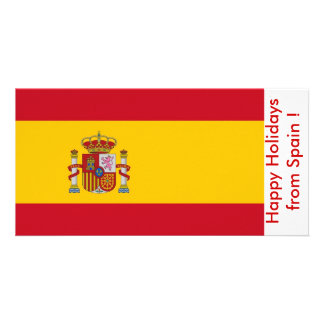 Flag of Spain, Happy Holidays from Spain Photo Cards