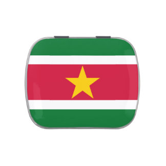 Flag of Suriname Jelly Belly™ Candy Tin