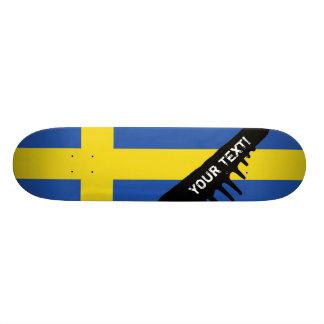 Flag of Sweden Custom Skateboard