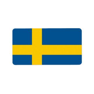 Flag of Sweden Label