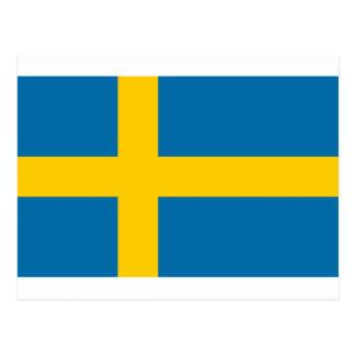 Flag of Sweden - Sveriges flagga - Swedish Flag Postcard