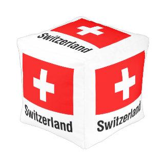 FLAG of SWITZERLAND Pouf