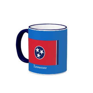 Flag of Tennessee Ringer Coffee Mug