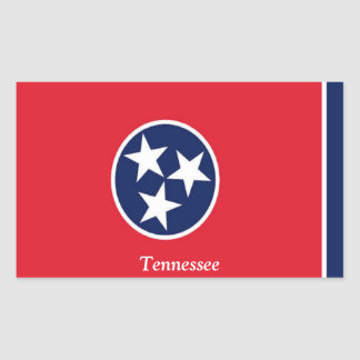 Flag of Tennessee Rectangular Sticker