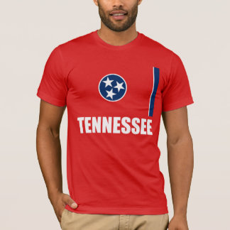 Flag Of Tennessee White Text Red T-Shirt