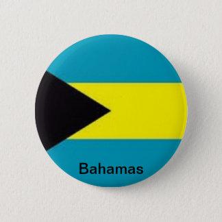 Flag of the Bahamas 6 Cm Round Badge
