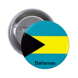 Flag of the Bahamas 6 Cm Round Badge