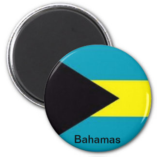 Flag of the Bahamas 6 Cm Round Magnet