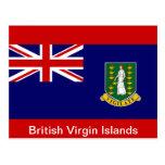Flag of the British Virgin Islands Postcard