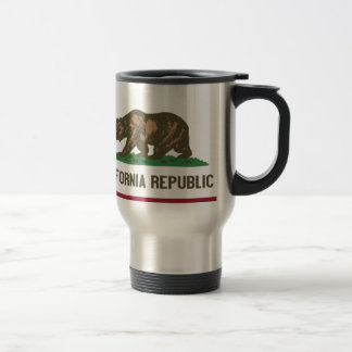 Flag of the Californian state Stainless Steel Travel Mug