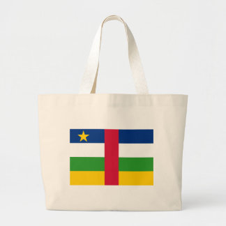 Flag_of_the_Central_African_Republic Large Tote Bag