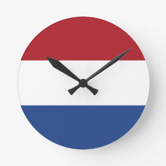 Flag of the Netherlands Wall Clock